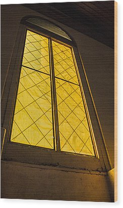 Wood Print featuring the photograph The Old Church Window  by Naomi Burgess