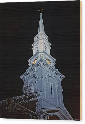 The Old Clock Tower 01 Wood Print
