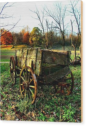 The Old Conestoga Wood Print by Julie Dant