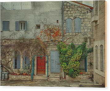 Wood Print featuring the photograph The Old Courtyard by Uri Baruch