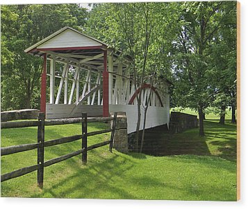 The Old Covered Bridge Wood Print