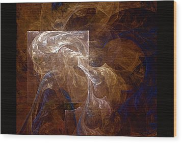 The Old Crone Wood Print