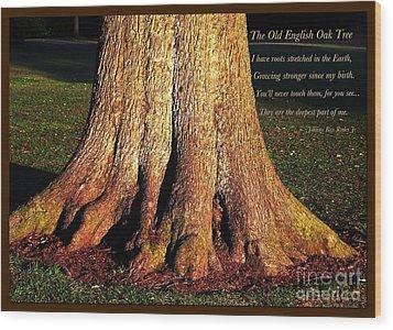 The Old English Oak Tree Wood Print