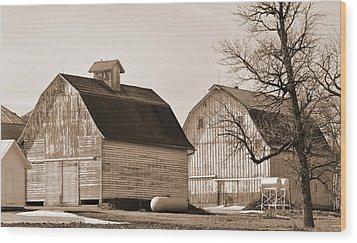 Wood Print featuring the photograph The Old Farm by Kirt Tisdale