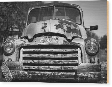 The Old Gmc Truck Wood Print