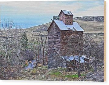 The Old Grain Storage Wood Print by Steve McKinzie