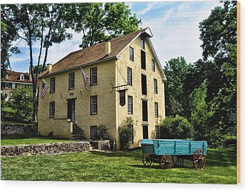 The Old Grist Mill  Paoli Pa. Wood Print by Bill Cannon