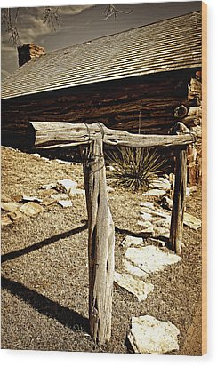 The Old Hitching Post Wood Print