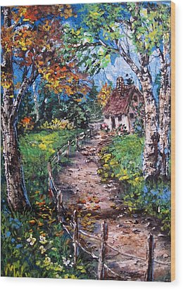 Wood Print featuring the painting The Old Homestead by Megan Walsh