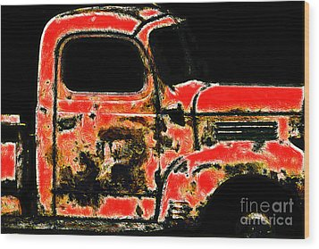 The Old Jalopy 7d22382 Wood Print by Wingsdomain Art and Photography