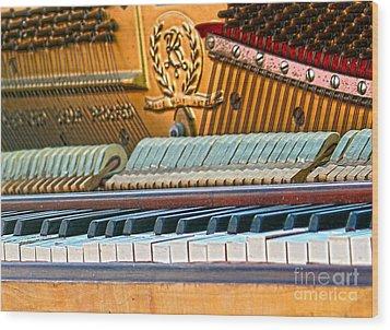 The Old Keys Wood Print by Sebastian Mathews Szewczyk