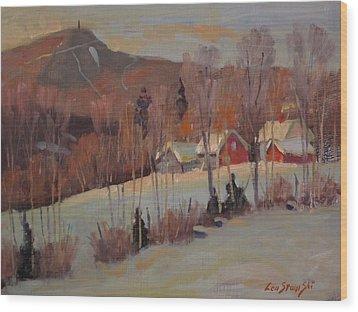 The Old Kordana Farm Wood Print by Len Stomski