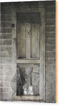 The Old Lowman Door Wood Print by Brian Wallace