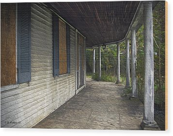 The Old Lowman House Wood Print by Brian Wallace