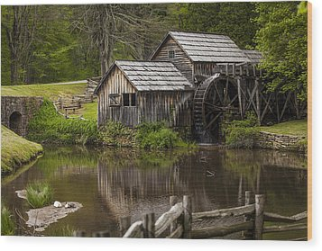 The Old Mill After The Rain Wood Print by Amber Kresge