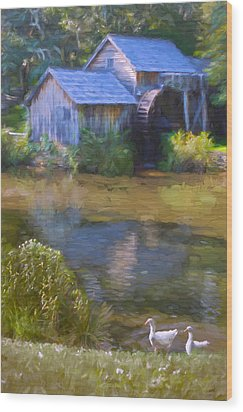The Old Mill At Mabry Wood Print
