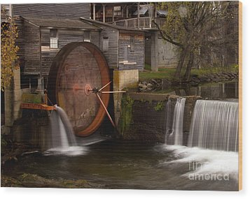 The Old Mill Detail Wood Print by Douglas Stucky