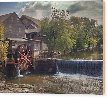 Wood Print featuring the photograph The Old Mill by Janice Spivey