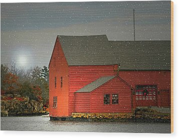 The Old Mill Kirby Pond Wood Print by Diana Angstadt
