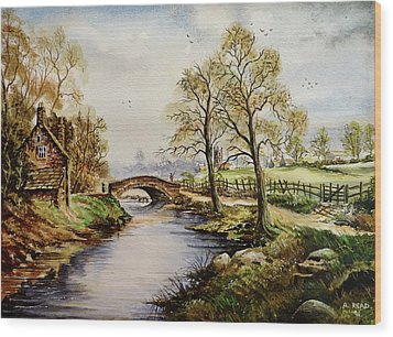 The Old Mill Path Wood Print by Andrew Read