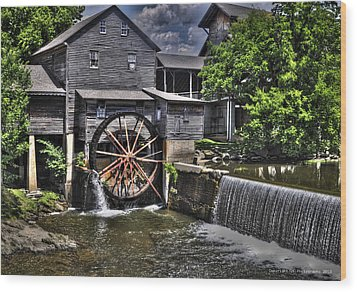 The Old Mill Restaurant Wood Print