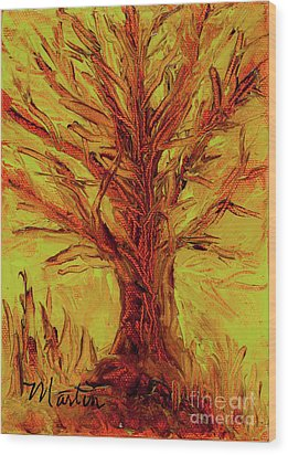 The Old Oak Tree I Wood Print by Larry Martin