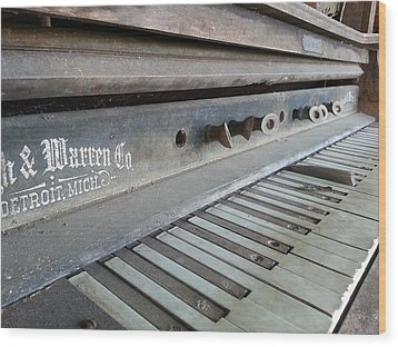 Wood Print featuring the photograph The Old Piano by Keith Hawley