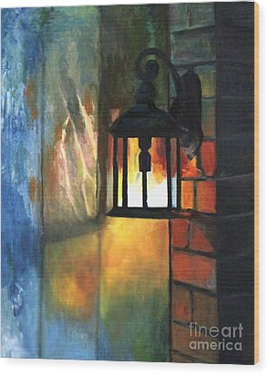 The Old Porch Light Wood Print