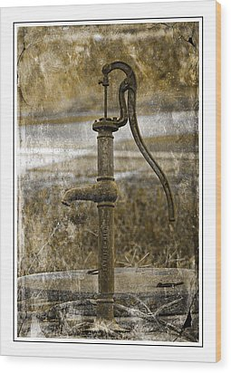 The Old Pump Wood Print
