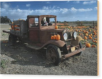 Wood Print featuring the photograph The Old Pumpkin Patch by Michael Gordon