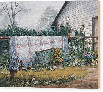 The Old Quilt Wood Print by Michael Humphries