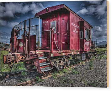 Wood Print featuring the photograph Old Red Caboose by Thom Zehrfeld