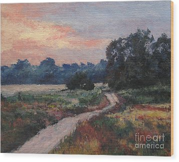 The Old Road At Sunset Wood Print by Gregory Arnett