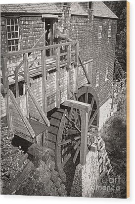 The Old Saw Mill Wood Print by Edward Fielding