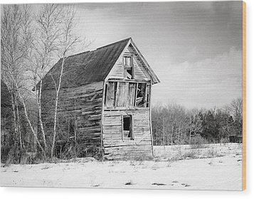 The Old Shack Wood Print by Gary Heller