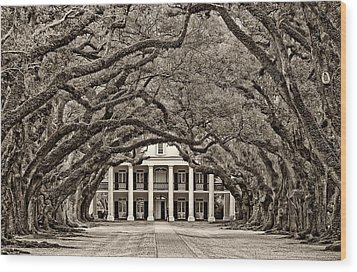 The Old South Sepia Wood Print