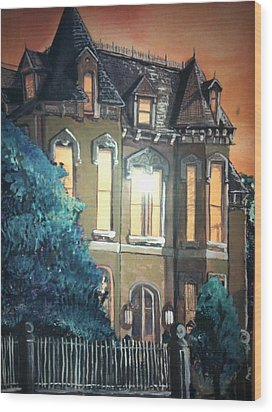 The Old Stegmeier Mansion Wood Print by Alexandria Weaselwise Busen