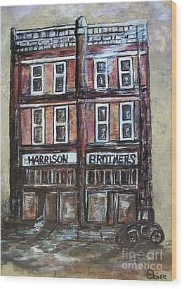 Wood Print featuring the painting The Old Store by Eloise Schneider