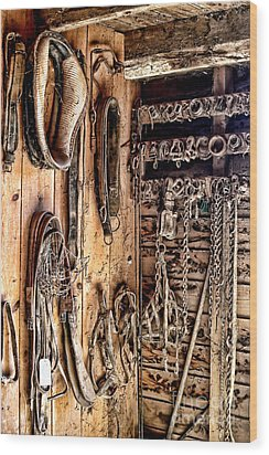 The Old Tack Room Wood Print by Olivier Le Queinec