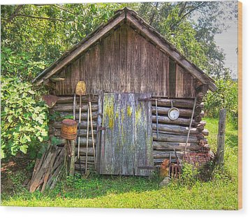The Old Tool Shed II Wood Print by Lanita Williams
