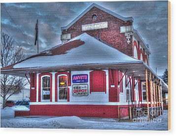 The Old Train Station Wood Print by Terri Gostola