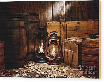 The Old Warehouse Wood Print by Olivier Le Queinec