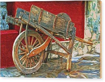 The Old Wheelbarrow Wood Print by Michael Pickett