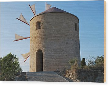 The Old Windmill 1830 Wood Print by George Katechis