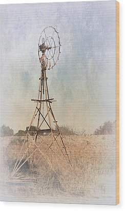 The Old Windmill Wood Print by Elaine Teague