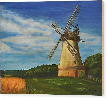 The Old Windmill Wood Print by Gynt Art