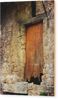 Wood Print featuring the photograph The Old Wooden Door by Jacqi Elmslie