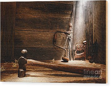 The Old Workshop Wood Print by Olivier Le Queinec