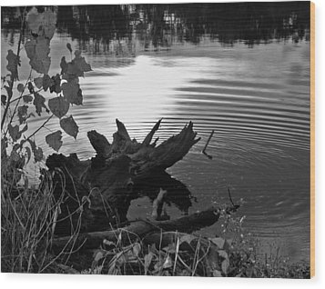 Wood Print featuring the photograph The Ole Fishing Hole by Ellen Tully