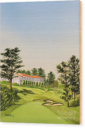 Wood Print featuring the painting The Olympic Golf Club - 18th Hole by Bill Holkham